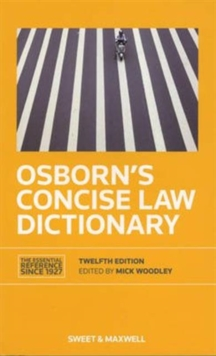 Osborn's Concise Law Dictionary, Paperback / softback Book