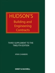 Hudson's Building and Engineering Contracts : 3rd Supplement, Paperback Book