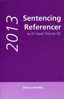 Sentencing Referencer, Paperback Book