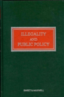 Illegality and Public Policy, Hardback Book