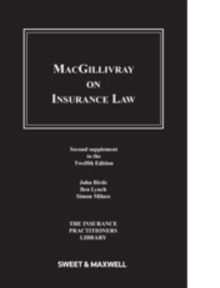 Macgillivray on Insurance Law : 2nd Supplement, Paperback Book