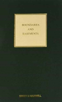 Boundaries and Easements, Hardback Book