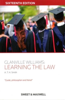 Glanville Williams: Learning the Law, Paperback / softback Book