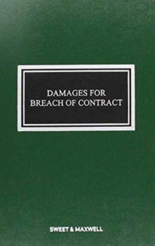 Damages for Breach of Contract, Hardback Book