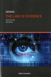 The Law of Evidence, Paperback Book