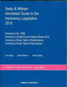 Sealy & Milman: Annotated Guide to the Insolvency Legislation 2018, Paperback Book