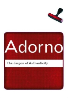 The Jargon of Authenticity, Paperback / softback Book