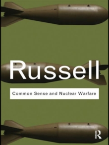 Common Sense and Nuclear Warfare, Paperback / softback Book
