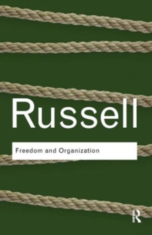 Freedom and Organization, Paperback Book