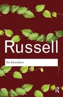 On Education, Paperback / softback Book