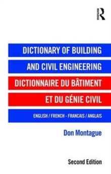 Dictionary of Building and Civil Engineering : English/French   French/English, Hardback Book