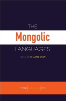 The Mongolic Languages, Paperback Book