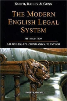 Smith, Bailey & Gunn on The Modern English Legal System, Paperback Book