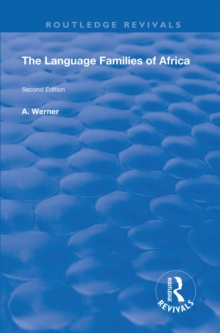 The Language Families Of Africa : Second edition, PDF eBook