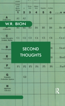 Second Thoughts : Selected Papers on Psychoanalysis, PDF eBook