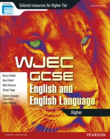 WJEC GCSE English and English Language Higher Student Book, Paperback Book