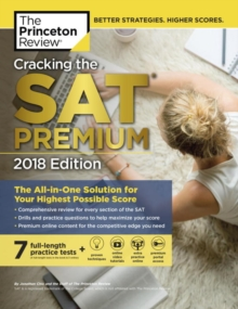 Cracking the SAT Premium Edition with 7 Practice Tests, Paperback Book
