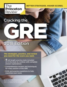 Cracking the GRE with 4 Practice Tests, Paperback Book