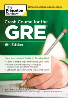 Crash Course for the GRE, Paperback Book