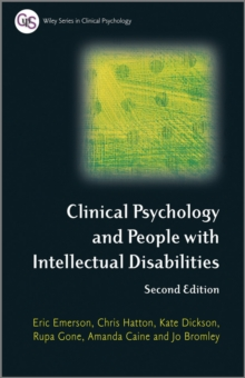 Clinical Psychology and People with Intellectual Disabilities, Paperback Book