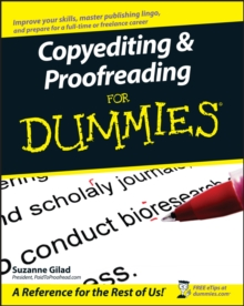 Copyediting & Proofreading for Dummies, Paperback Book