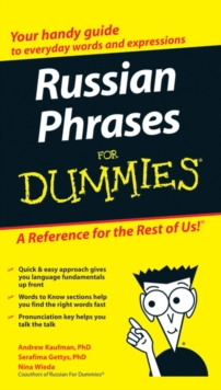 Russian Phrases For Dummies, Paperback / softback Book