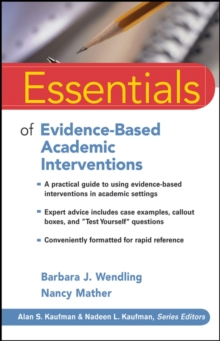 Essentials of Evidence-based Academic Interventions, Paperback Book