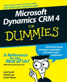 Microsoft Dynamics CRM 4 For Dummies, Paperback / softback Book