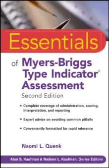 Essentials of Myers-Briggs Type Indicator Assessment, Paperback / softback Book