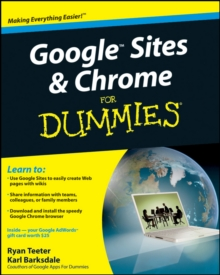 Google Sites and Chrome For Dummies, Paperback / softback Book