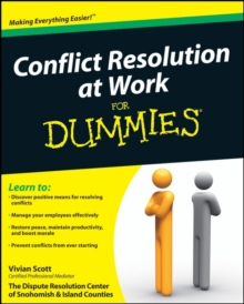 Conflict Resolution at Work For Dummies, Paperback / softback Book
