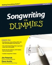 Songwriting for Dummies, 2nd Edition, Paperback Book