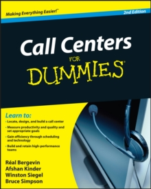 Call Centers for Dummies, Paperback Book
