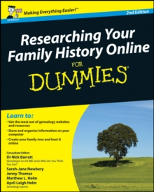 Researching Your Family History Online For Dummies, Paperback Book
