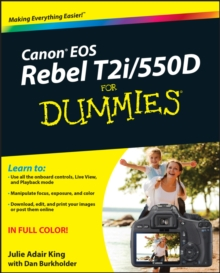 Canon EOS Rebel T2i / 550D For Dummies, EPUB eBook