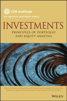 Investments : Principles of Portfolio and Equity Analysis, Hardback Book