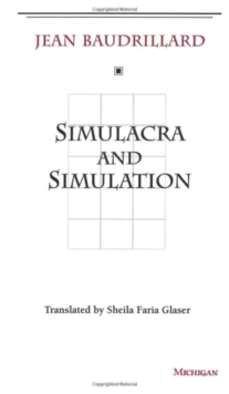 Simulacra and Simulation, Paperback / softback Book