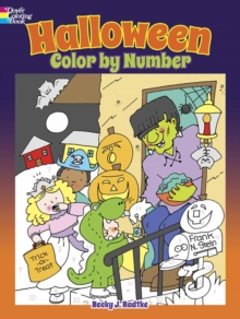Halloween Color by Number, Paperback Book