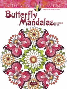 Creative Haven Butterfly Mandalas Coloring Book, Paperback Book
