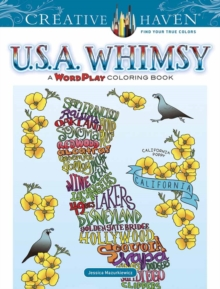 Creative Haven U.S.A. Whimsy : A WordPlay Coloring Book, Paperback Book