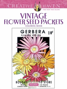 Creative Haven Vintage Flower Seed Packets Coloring Book, Paperback Book