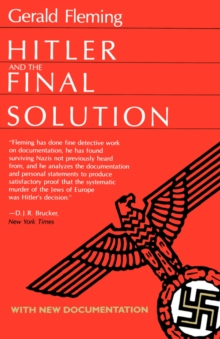 Hitler and the Final Solution, Paperback / softback Book