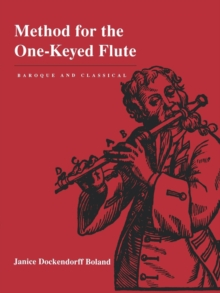 Method for the One-Keyed Flute, Paperback Book