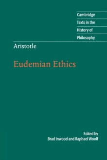Aristotle: Eudemian Ethics, Paperback Book