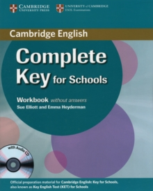 Complete Key for Schools Workbook without Answers with Audio CD, Mixed media product Book