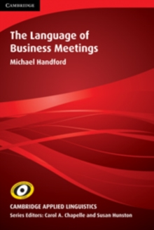 The Language of Business Meetings, Paperback Book
