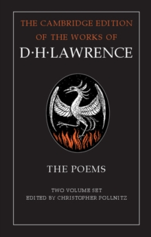 The Cambridge Edition of the Works of D. H. Lawrence : The Poems 2 Volume Hardback Set, Hardback Book