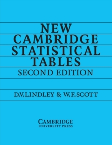 New Cambridge Statistical Tables, Paperback Book