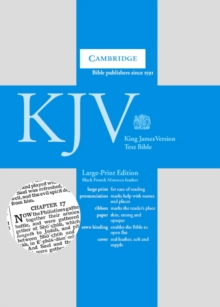 KJV Large Print Text Bible, Black French Morocco Leather KJ653:T, Leather / fine binding Book