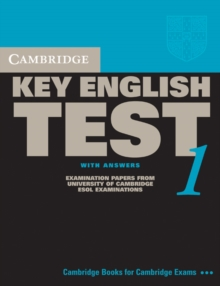 KET Practice Tests : Cambridge Key English Test 1 Student's Book with Answers: Examination Papers from the University of Cambridge ESOL Examinations, Paperback / softback Book